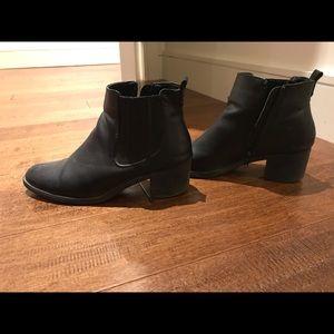 Steve Madden (size 8) black booties